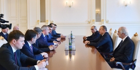 Ilham Aliyev received delegation led by Russian deputy Prime Minister